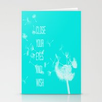coconut wishes Stationery Cards featuring Wishes by Veronica Ventress