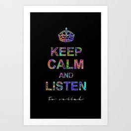 Listen To Sellah (BLCK) Art Print