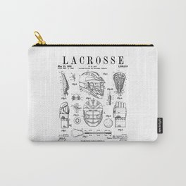 Lacrosse Player Equipment Vintage Patent Drawing Print Carry-All Pouch