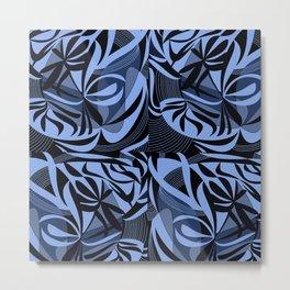 Blu flowers Metal Print