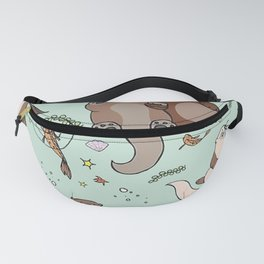 Sea Otters and Fish Fanny Pack