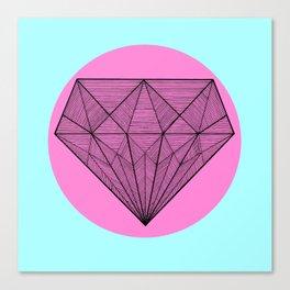 Crystaline in circle II Canvas Print