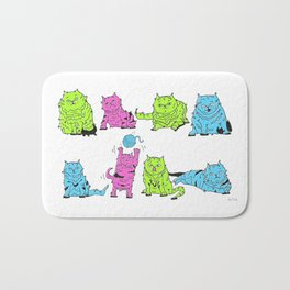 Fluro Cats Bath Mat