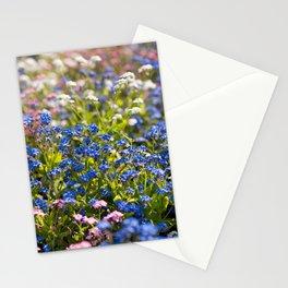 Myosotis flowering in spring Stationery Cards