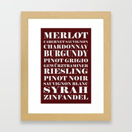 Wine Celebration Framed Art Print