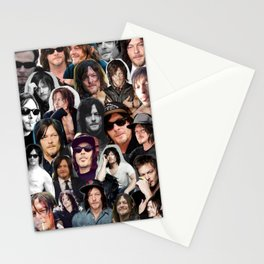 Norman Reedus collage Stationery Cards