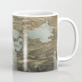 Vintage Pictorial Map of Lake Chautauqua NY (1885) Coffee Mug