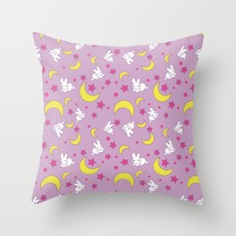 Usagi's Pattern Old Style Throw Pillow