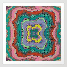 Round Pig, Square Hole Art Print