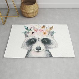 Forest Raccoon by Nature Magick Rug