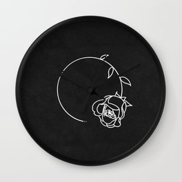 For How Long || Rose Wall Clock