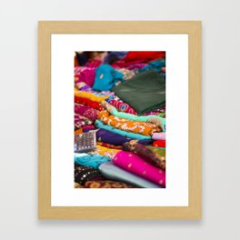 India Market Framed Art Print