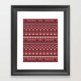 CRYSTAL AZTEC   Framed Art Print