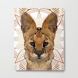 Serval Mandala Metal Print