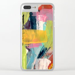 Hopeful[2] - a bright mixed media abstract piece Clear iPhone Case