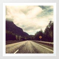 Driving in Oregon Art Print