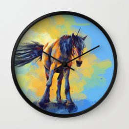 Horse in the Sunlight Wall Clock