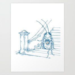 Cup O' Coffee NYC Style_cockroach Art Print