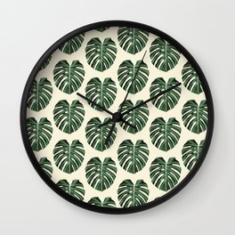Monstera Fall Wall Clock