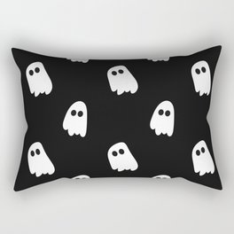 Black and White Ghosts Rectangular Pillow