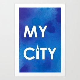 MyCity-London-BlueA Art Print