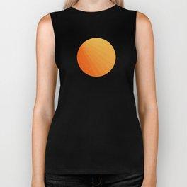 Shades of Sun - Line Gradient Pattern between Light Orange and Pale Orange Biker Tank