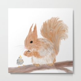 Squirrel and friends Metal Print