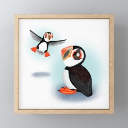 Atlantic Puffin (Canavians Series) Framed Mini Art Print