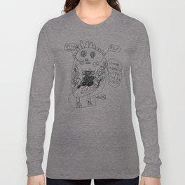 Weird Owl - BW Long Sleeve T-shirt