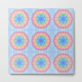 Boho Mandala Watercolor Metal Print