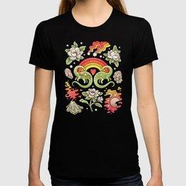 Love You Till Extinction   Watercolor Dinosaur Rainbow Art T-shirt