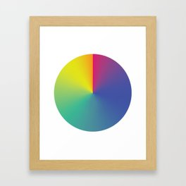 Gradient Orbit Framed Art Print