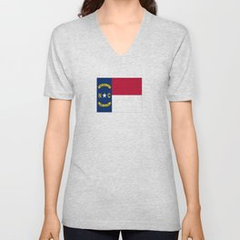 flag of north carolina-south,america,usa,Old North State,Tar Heel,North Carolinian,Charlotte,Raleigh Unisex V-Neck