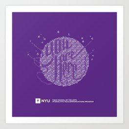 YOU ARE HERE [Funfetti Violet] Art Print