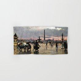 12,000pixel-500dpi - Paul Gustav Fischer - Place Of The Concorde, Paris - Digital Remastered Edition Hand & Bath Towel