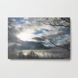 Brilliant Winter Sunshine Metal Print