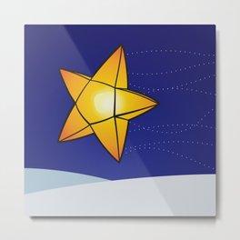 Star Shaped Lantern Metal Print
