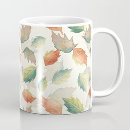 Falling Scattered Autumn Leaves from Trees Coffee Mug