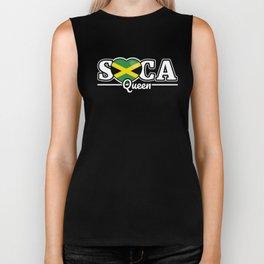 Soca Music Queen gift : Trinidad Carnival Wining Dancing Gift, Grinding Dance Caribbean Culture Biker Tank