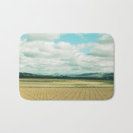The field | Modern train landscape photography Bath Mat