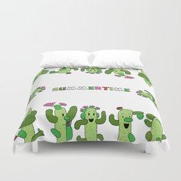Cactus Family (colour version) Duvet Cover