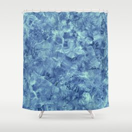 Blue onyx marble Shower Curtain