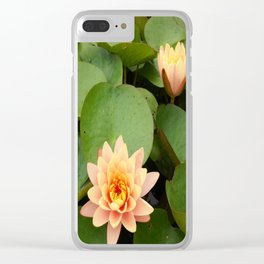 a Pond Flower Clear iPhone Case