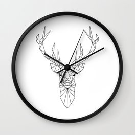 Geometric Deer Head Wall Clock