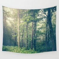 fog Wall Tapestries featuring Inner Peace by Olivia Joy StClaire