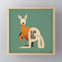 Hello Kangaroo Framed Mini Art Print