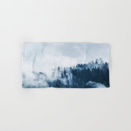 CLOUDS - WHITE - FOG - TREES - FOREST - LANDSCAPE - NATURE - TIMBER - WOODS - PHOTOGRAPHY Hand & Bath Towel
