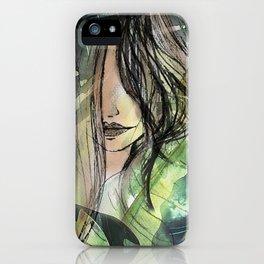Girl in jungle iPhone Case