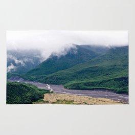 Mount St. Helen's River Rug