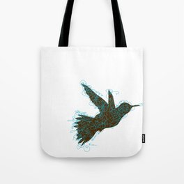 Bird Fly No. 1 (Black/Aqua) Tote Bag